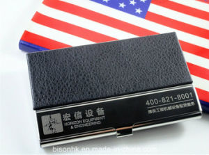 Wholesale Promotional Leather Business Cards Holder pictures & photos