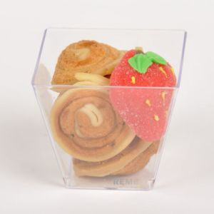 PP/PS Plastic Cup Kova Dessert Cup 3.8 Oz with Holder pictures & photos