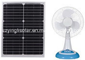 12′′12V Electric DC Non-Rechargeable Solar Table Fan pictures & photos