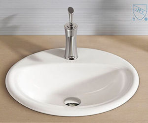 Bathroom Oval Round Shape Art Ceramic Porcelain Hand Wash Sink Basin pictures & photos