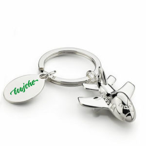 Promotional Metal 3D Air Plane Keychain with Engrave Logo (F1263)