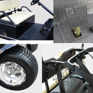 48V 4 Seat Solar Panel EEC Utility Vehicle with Cargo Box pictures & photos