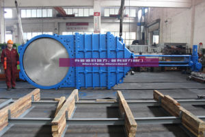 Wafer Type Knife Gate Valve with Electric Actuator pictures & photos