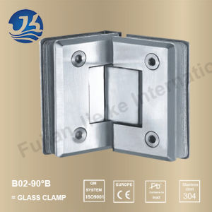 Sanitary Ware Stainless Steel Bathroom Hardware Glass Clamp (B02-90B)