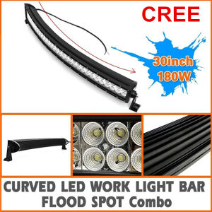 30inch 180W Curved Flood Spot Combo LED Light Bar for Offroad SUV ATV 4WD