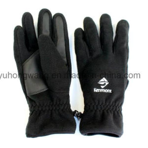 Cheap Men′s Warm Polar Fleece Gloves/Mittens with Embroidery pictures & photos