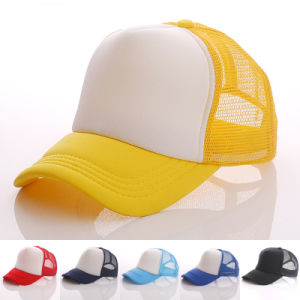 Fashion Blank Cotton Nylon Mesh DIY Baseball Caps (YKY3423) pictures & photos