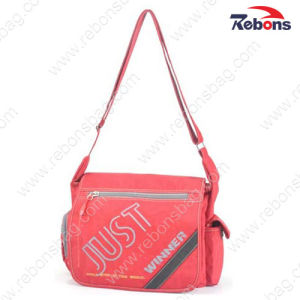 Nylon Red Ladies Long Strap Shoulder Messenger Bags for Sports pictures & photos