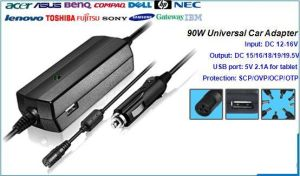 90W Universal Laptop DC Adapter for Car