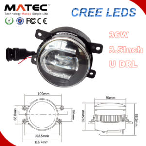 Top Sales 3.5inch CREE Auto LED DRL with LED Fog Light Car pictures & photos