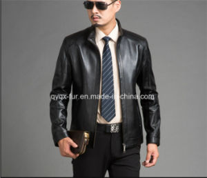 2015 High Quality Men Leather Jacket