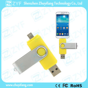 Yellow Swivel 16GB OTG USB Drive for Samsung Phones (ZYF1625) pictures & photos