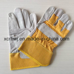 Industry Short Cowhide Leather Working Gloves,Safety Working Gloves,10.5′′patched Palm Leather Gloves,Cow Split Leather Full Palm Working Glove,Driver Gloves