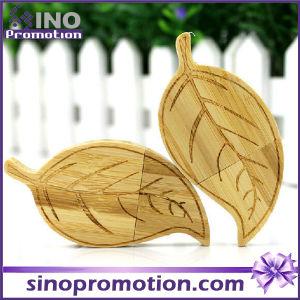 Wholesale Leaf Shape 32GB Wooden USB Flash Drive pictures & photos