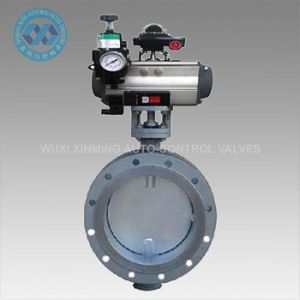 Aeration Butterfly Valve with Pneumatic Actuator pictures & photos