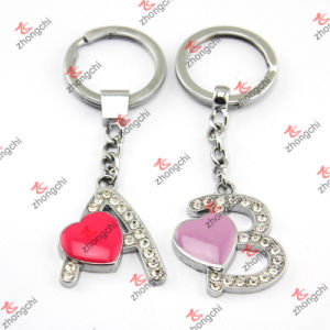 Hot Pink Heart Alphabet Metal Keychain/Letter a Keychain (KR15121423) pictures & photos