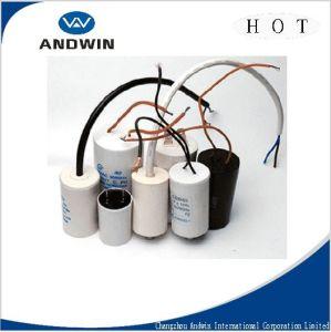 Cbb60 AC Fan Motor Capacitor (column, plastic case) pictures & photos