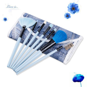 7 Pieces Fresh and Elegant Beautiful Equipment portable Makeup Brush