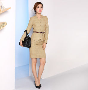 Made to Measure Fashion Stylish Office Lady Formal Suit Slim Fit Pencil Pants Pencil Skirt Suit L51608 pictures & photos