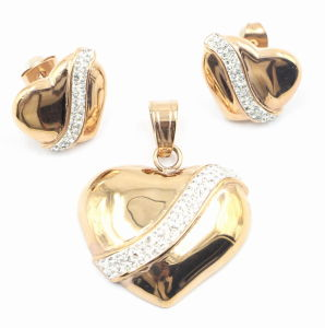 Factory Direct Hot Selling Fashion Stainless Steel Jewelry Set - Earring & Pendant pictures & photos