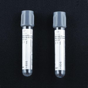 Glucose Vacuum Blood Tube (Vacuum Tube) Grey Cap Glucose. pictures & photos