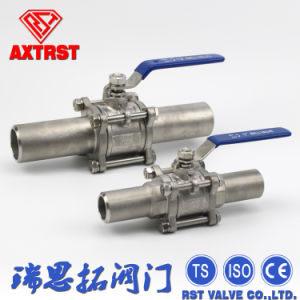 Three Piece Extended Butt Welding Stainless Steel Ball Valve pictures & photos