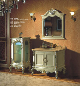 Solid Wooden Furniture Bath Cabinet (YJ-605) pictures & photos