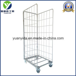 Good Sale Zipped Galvanized Warehouse and Supermarket Storage Roll Container pictures & photos