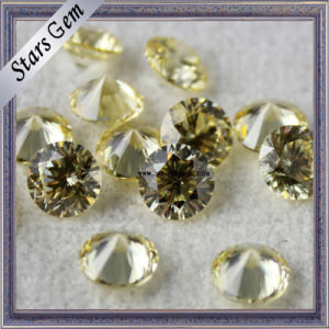 Aaaaa Quality Yellow Round 81 Facets Star Cut Cubic Zirconia pictures & photos