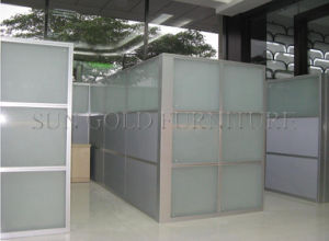 Popular Cheap Office Used Low Half Glass Wall Partition (SZ-WS587) pictures & photos