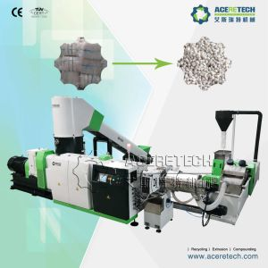 High Efficiency Two Stage EPS/EPE/XPS/PS Foam Recycling Pelletizing Machine pictures & photos