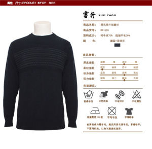 Bn1655 Yak/Wool Blended Long Sleeve Men′s Pullover Spring and Autumn Sweater pictures & photos
