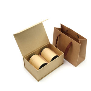 Custom Design Kraft Round Tube Food Grade Coffee Bean Packaging Box with Foil Lamination Inside pictures & photos