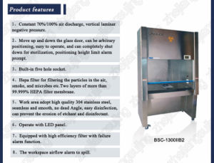 Stainless Steel Biological Safety Chamber (BSC-1600IIA2) pictures & photos