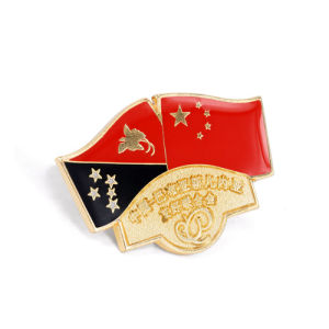 Different National Flags Epoxy-Dripping Lapel Pin Badge (GZHY-LP-012) pictures & photos