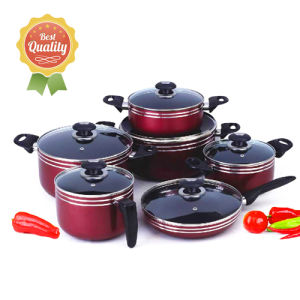 Aluminum Nonstick Cookware Sets in 2.5mm Thickness Yz-PC12D pictures & photos