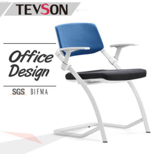 Modern Colorful Fabric Office Meeting Visitor Arm Chair with Plastic Back pictures & photos
