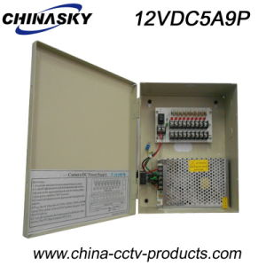 12VDC 5A 9CH Power Supply Unit for CCTV System (12VDC5A9P) pictures & photos