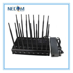 Cell Phone & WiFi 2.4G Jammer with Cooling Fan, GSM CDMA 3G Dcs Mobile Phone Signal Jammer 16 Antennas Jammer pictures & photos