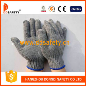 Ddsafety 2017 Ce Quality Stretchy Gloves Grey Cotton/Polyester Gloves pictures & photos