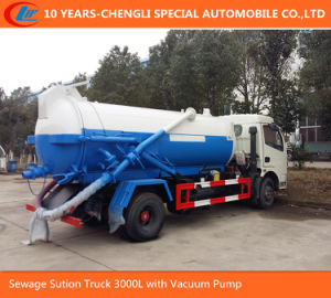 4X2 Dongfeng Sewage Sution Truck 3000L with Vacuum Pump pictures & photos