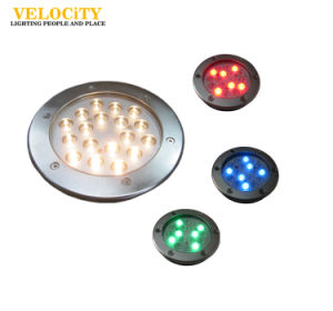 6W/12W Stainless Steel IP68 RGB LED Underwater Light for Outdoor Pool Lighting pictures & photos