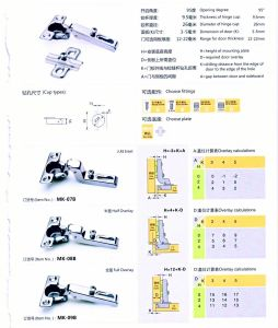 26mm Mini Key Hole One Way Furniture Hinge pictures & photos