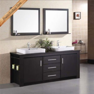 Fed-1107A Wooden Top Single Sink Linen Cabinet Wooden Espresso Bathroom Cabinets pictures & photos