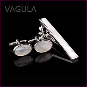 VAGULA Hot Selling Shell Tie Pin Cufflinks Tie Bar Set Wedding Party Tie Clip Set (T62283) pictures & photos