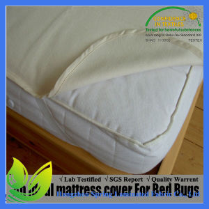Hypoallergenic Fitted 50%Cotton Fitted Sheet Style Waterproof Mattress Protector pictures & photos