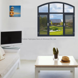 Feelingtop Thermal Break Aluminum Swing Windows with Mosquito Net pictures & photos