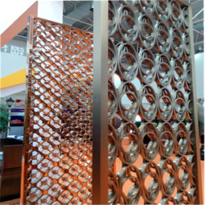 Laser Cut Screen Room Divider Panels with Bronze Gold Rose Goldblack PVD Color pictures & photos