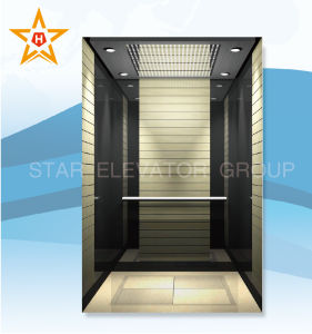 Commercial Building Elevator / Lift with Black Stainless