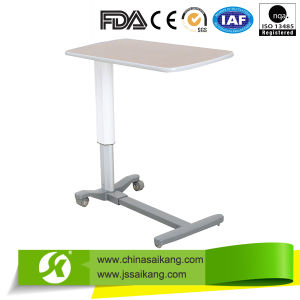 Adjustable Hospital ABS Overbed Table for Sickroom Use pictures & photos